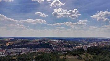 Rozhledna Fajtův kopec: Velké Meziříčí jako na dlani