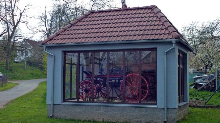Koňská hasičská stříkačka SDH Kralice